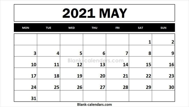 May 2021 Calendar Monday Start | 2021 calendar, October ...