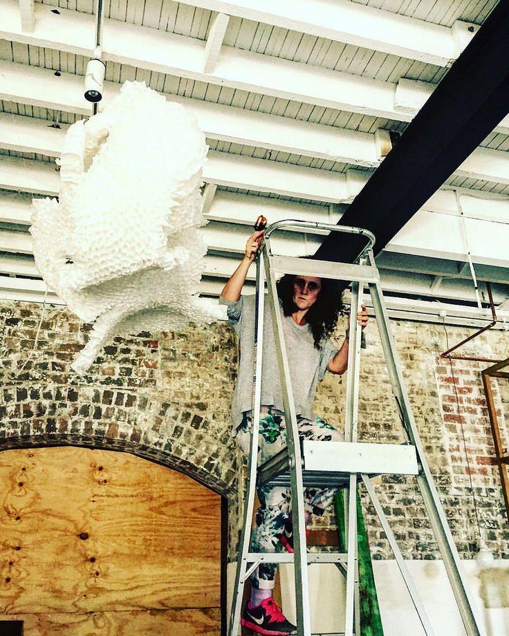 Instalación #teabar #art #sydney #santiagodechile @rabbitholetea @valeriaburgoav #teabags #recicle @corinne.smith_