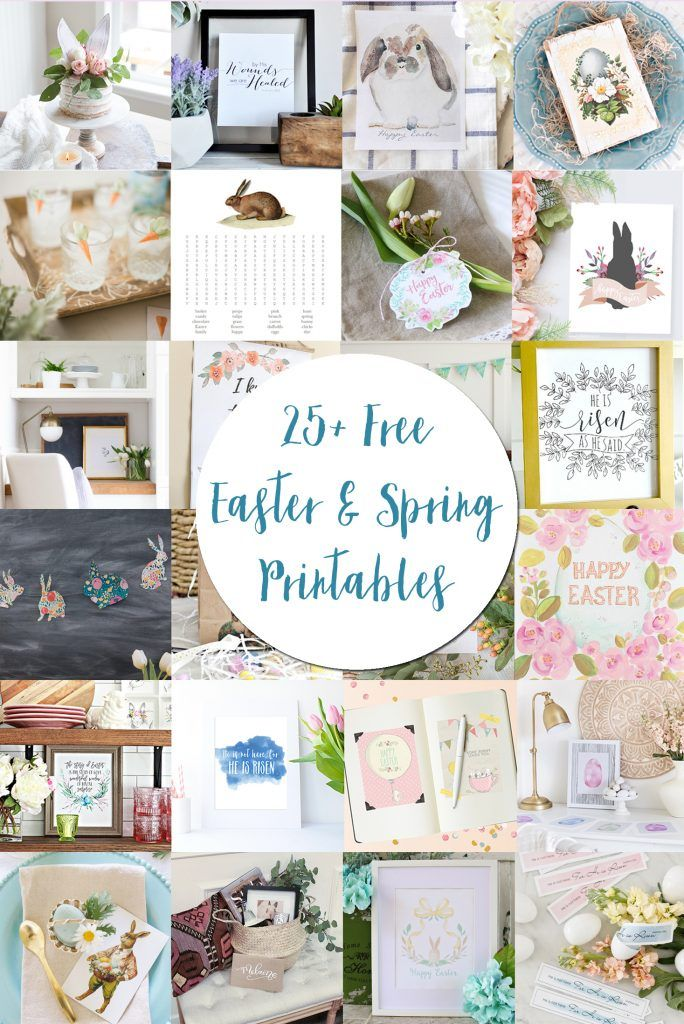 A collection of 25+ free Easter and spring printables that are perfect for your home decor!