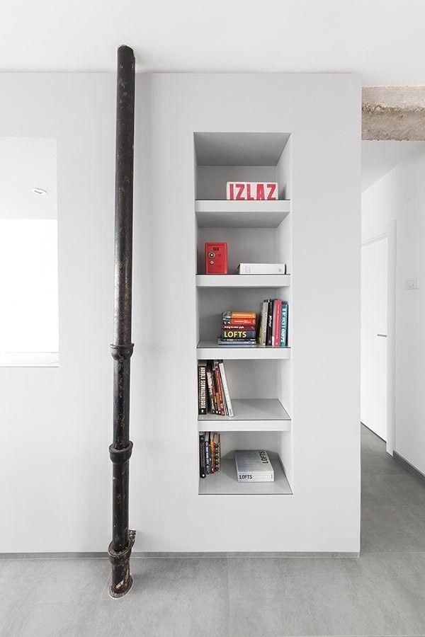 Lagerung in Kaktus in ein schwarz-weiß Wohnzimmer Gestaltung Wohnung minimalistischen Andreja Bujevac 21 schwarz und weiß (10)