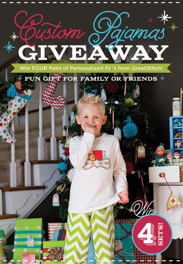 GIVEAWAY: Custom Family Pajamas by GreatStitch