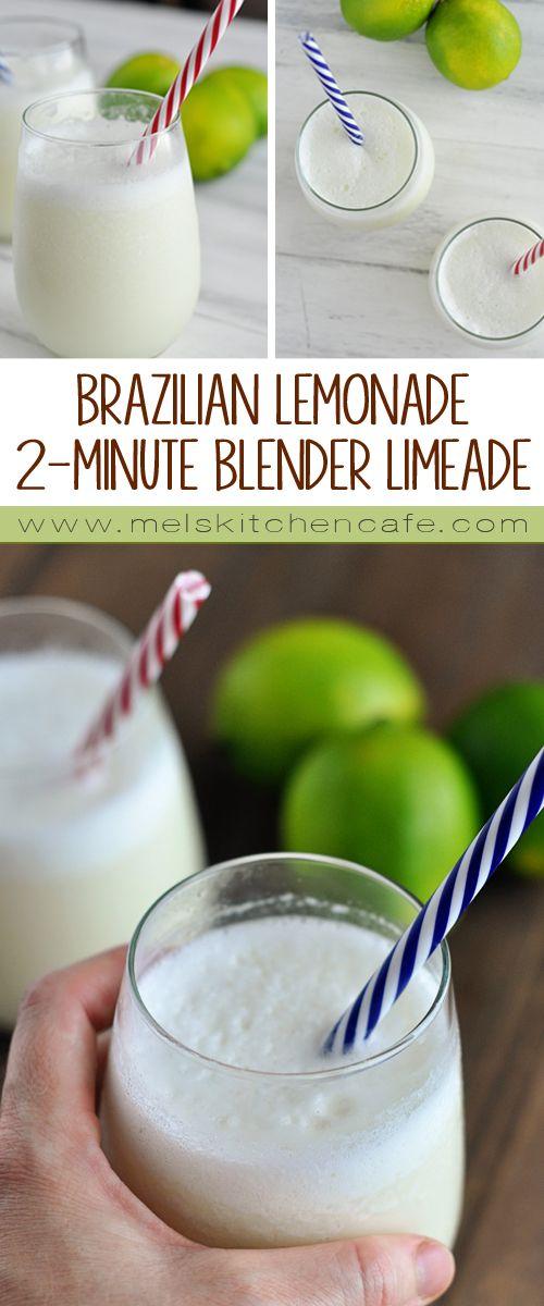 Brazilian Lemonade {Or In Other Words 2-minute Blender Limeade}