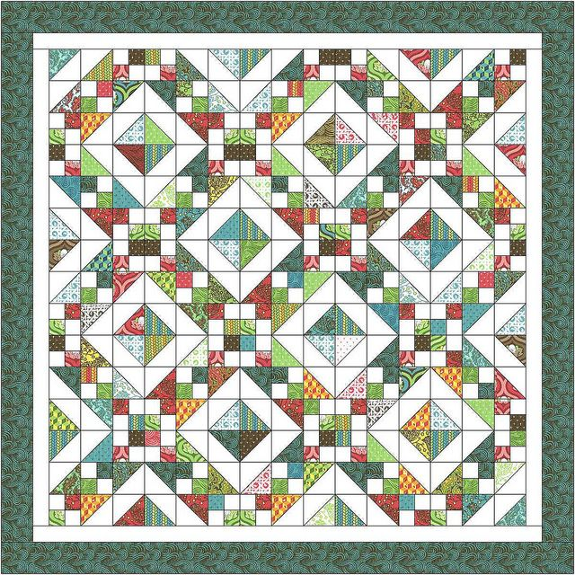 Free Quilt Pattern For Jacob S Ladder : Charm Pack Quilt Along (HST + 4-patch) Safe #2 Pinterest Patterns, Ladder and Charm pack