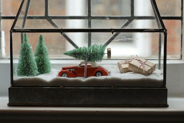Christmas diorama via Rambling Renovators