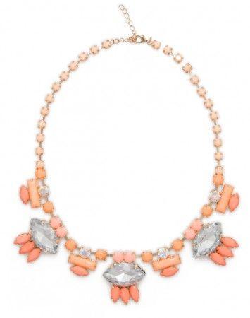 Popetto Coral Art Deco Necklace