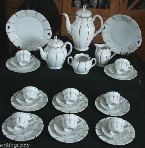 deco ALT WEIMAR herrliches KAFFEESERVICE - TAFELSERVICE - 39 Teile - 8 Personen | eBay