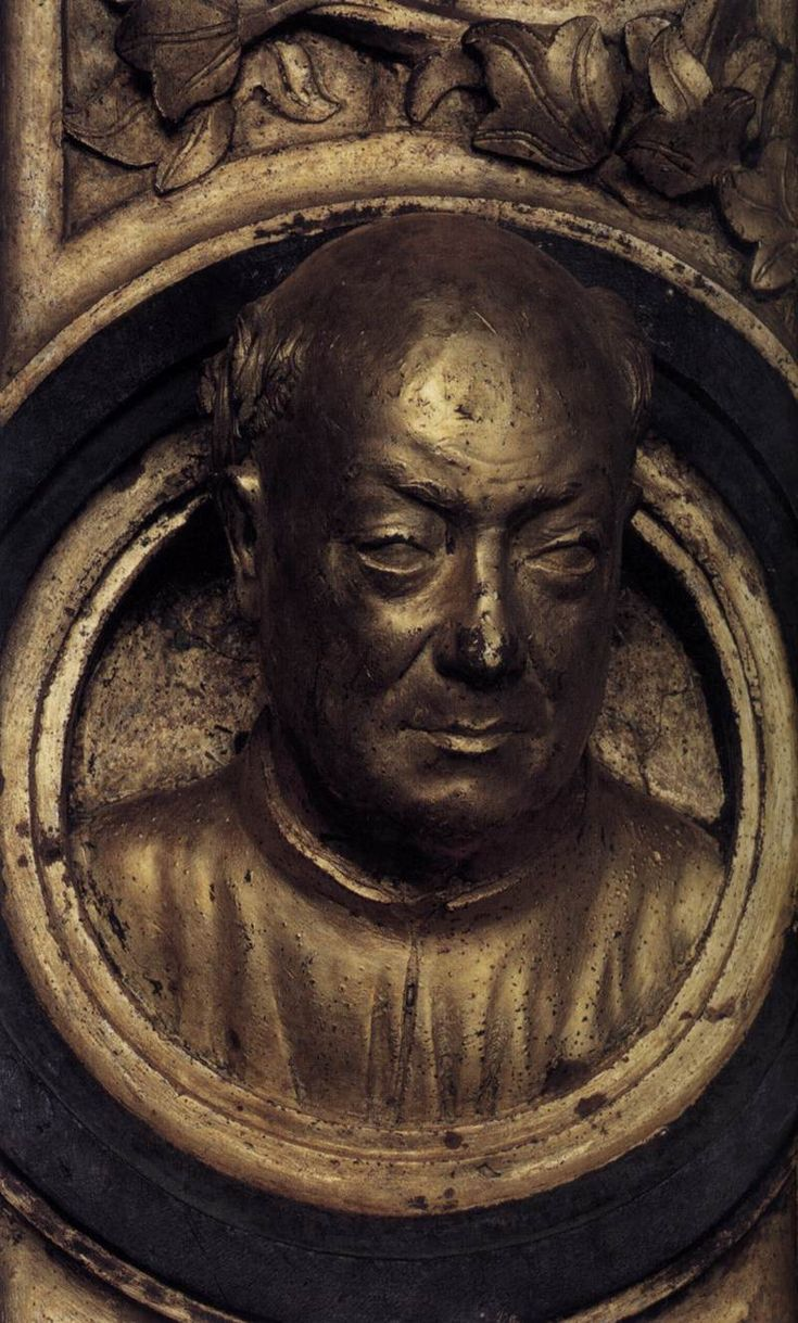 "Lorenzo Ghiberti (1378, Firenze - 1455, Firenze), ""Autoritratto"" / ""Self-Portrait"", 1425-52, Bronzo dorato / Gilded bronze, Battistero / Baptistry, Firenze"