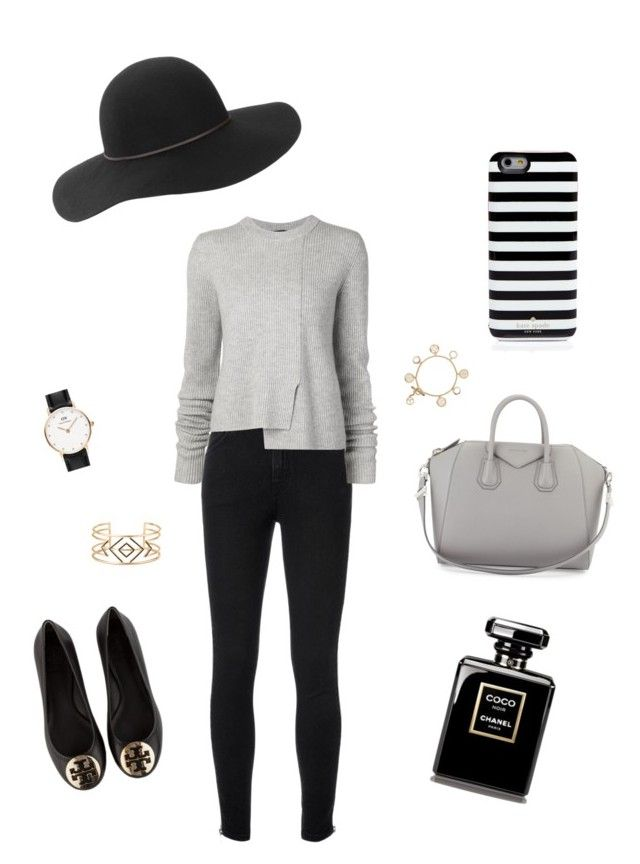 """""""Gray Bay"""" by oliviiiias on Polyvore featuring Yves Saint Laurent, Proenza Schouler, Daniel Wellington, Givenchy, Tory Burch, Stella & Dot and Kate Spade"""