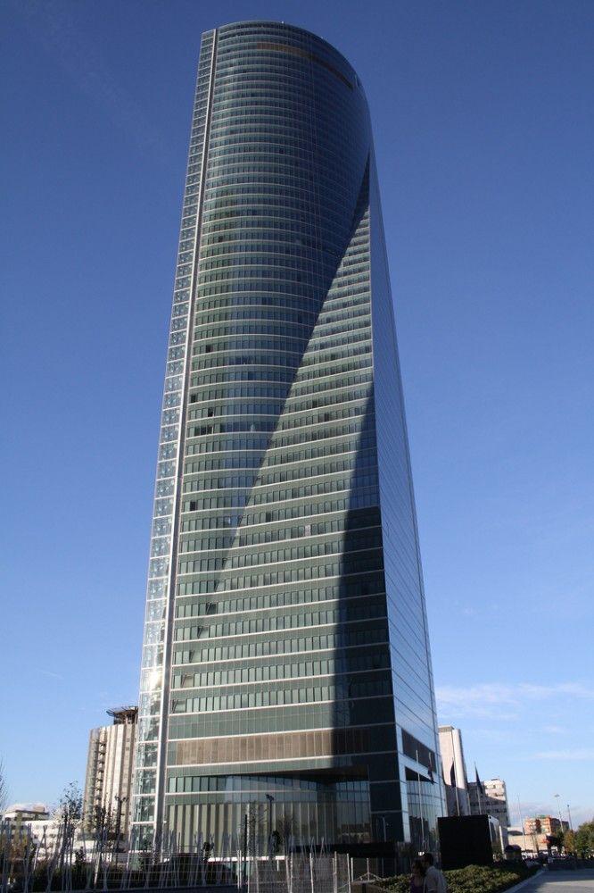 Torre Espacio, Madrid.    Designed by I.M. Pei.