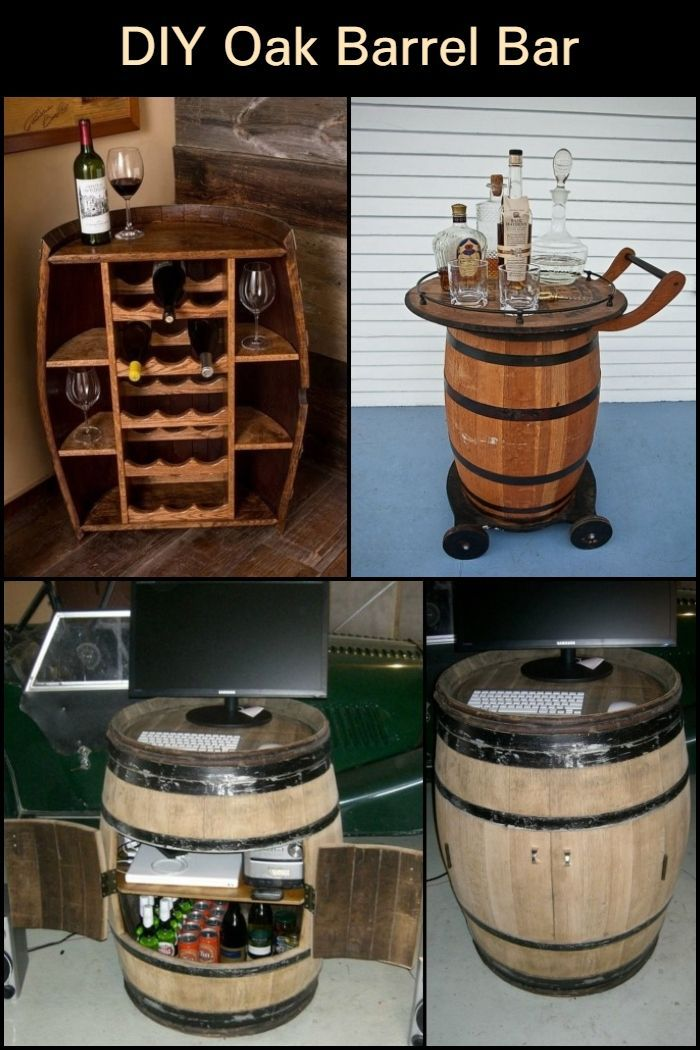 Diy Oak Barrel Bar Barrel Bar Oak Barrel Oak