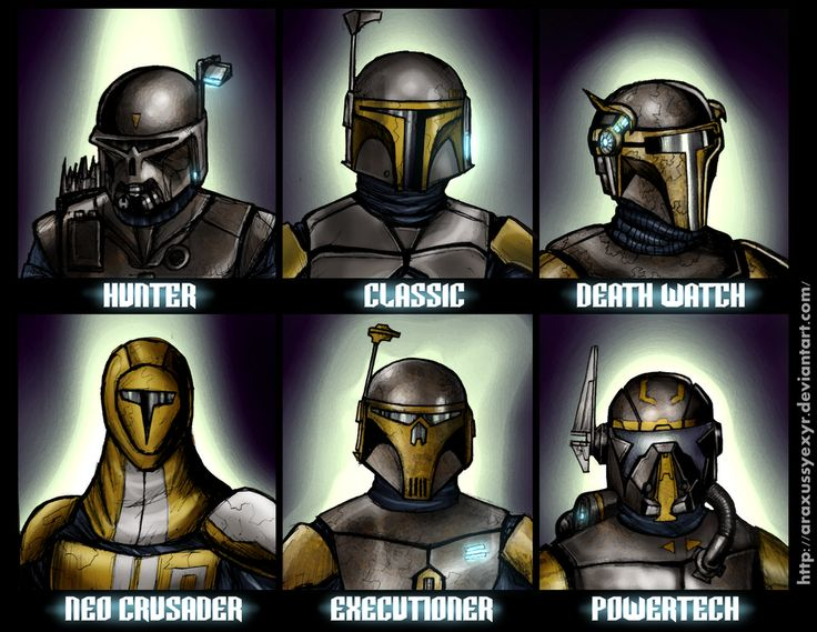 Mandalorian helmets by AraxussYexyr on DeviantArt