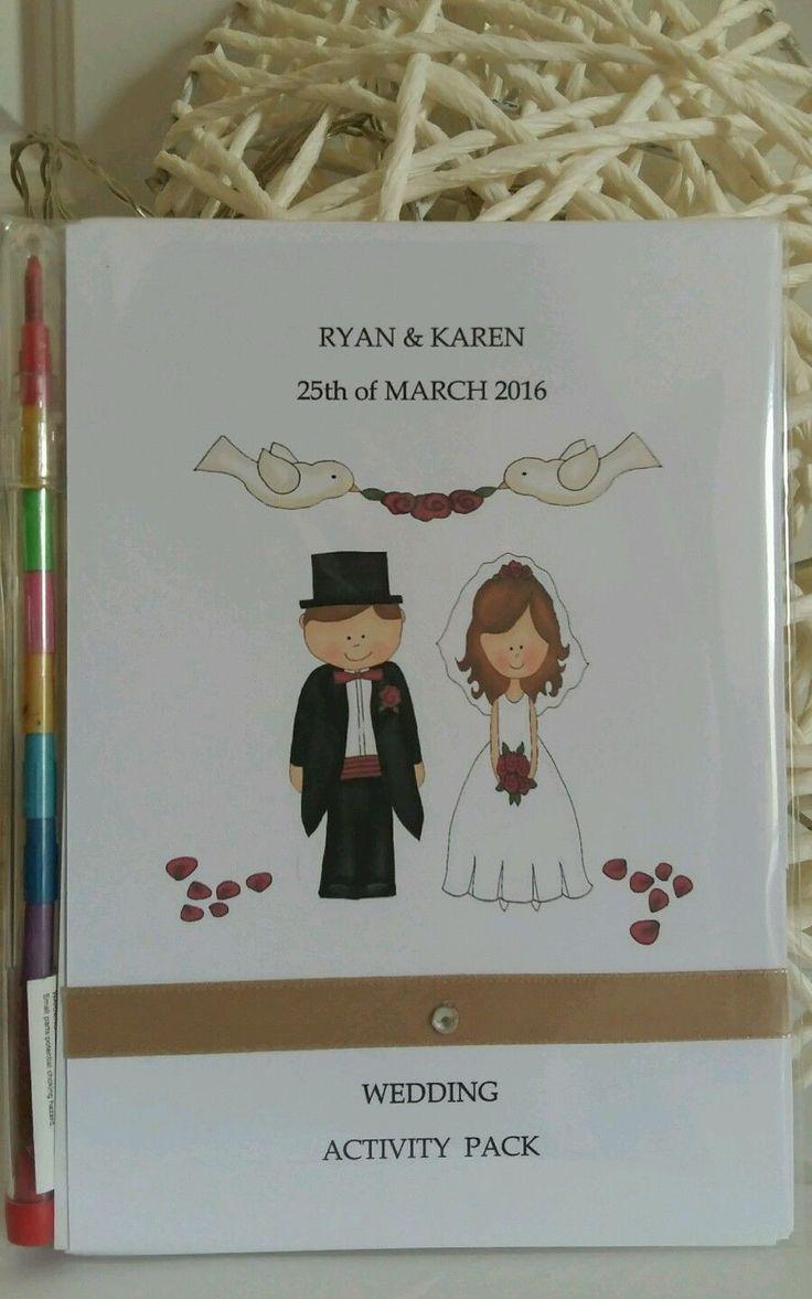 PERSONALISED CHILDRENS WEDDING COLOURING or ACTIVITY PACK BOOK FAVOUR PAPER | Casa, jardín y bricolaje, Decoración para bodas, Detalles para invitados | eBay!