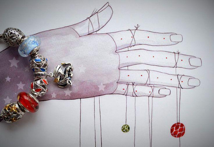 """Рубрика """"Мой первый браслет Diamare"""", невероятно красивые фотографии и рисунки от нашей талантливой покупательницы Дарины Давиденко: 💎"""