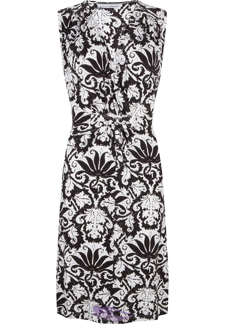 Be stylish this summer in this Pastunette Beach monochrome floral design beach dress with tie-back