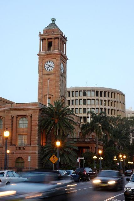 City Hall clock tower, Newcastle, Australia
