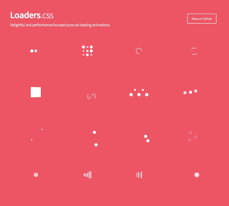 Delightful and performance-focused pure css loading animations | Loaders.css