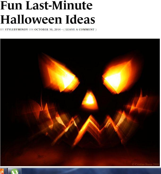 my halloween article - READ HERE :) http://vaguevisages.com/2014/10/30/fun-last-minute-halloween-ideas/
