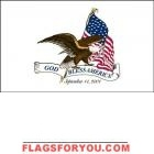 3' x 5' God Bless America US Made, High Wind Flag