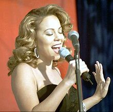 "Mariah Carey at Edwards Air Force Base during the making of ""I Still Believe"" video (1998)"