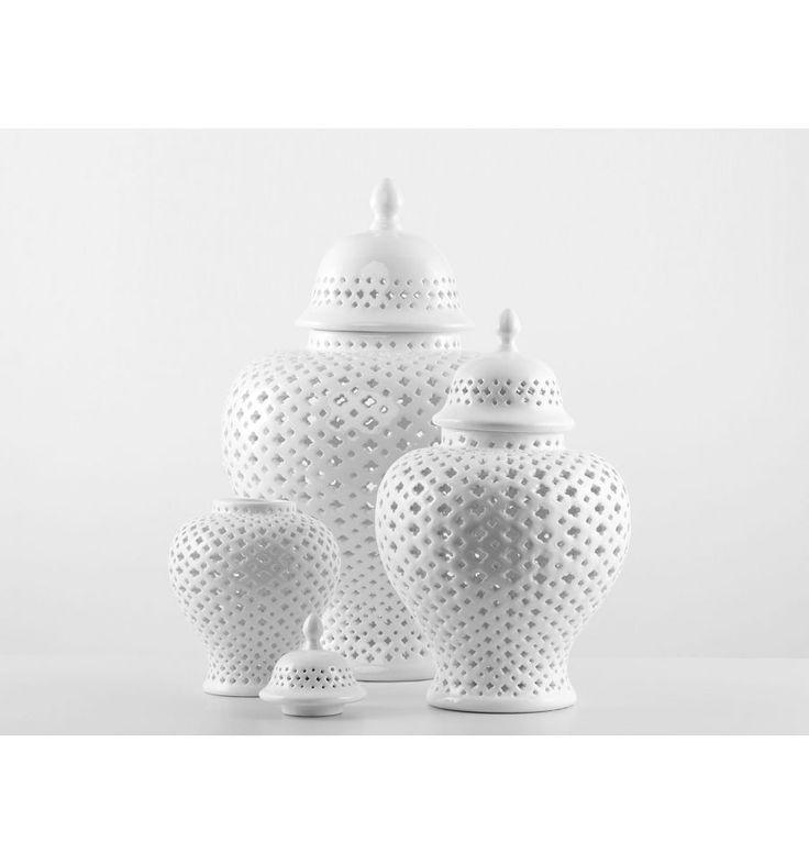 kolekcja Filigran - Waza ceramiczna, Ginger Jar Filigran M - Sklep z płytkami Mozaikowe.pl