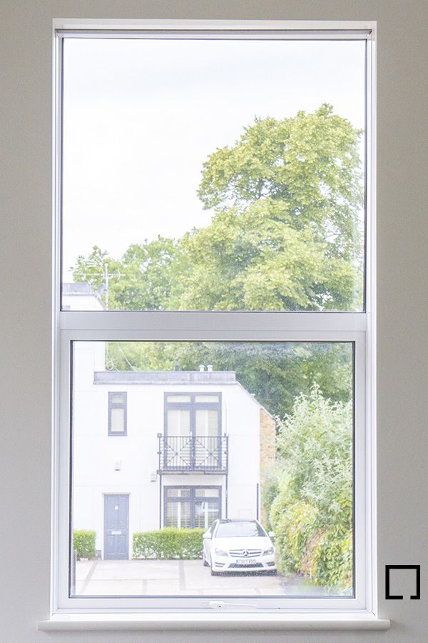 Sash Window With Concealed Double Roller Shades Day Night Blind