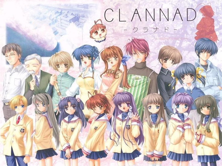 Clannad and Clannad After Story. This is the saddest anime I seen in my life I actually cry watching it but, it was so cute.