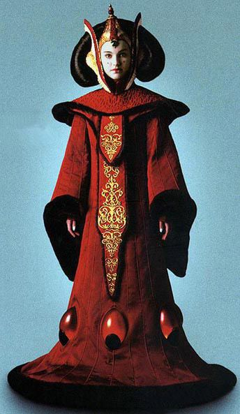 The most famous of Pamde's dresses as Queen of Naboo from Star Wars: The Phantom Menace.