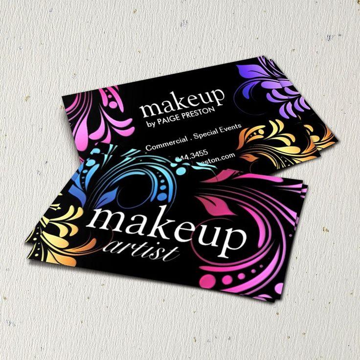 15 best MUA Business Card Designs images on Pinterest | Makeup ...
