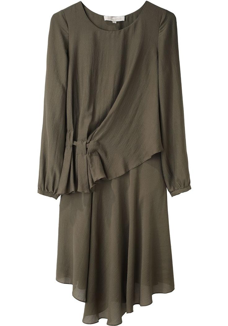 VANESSA BRUNO /  SIDE DRAPE CREPE DRESS