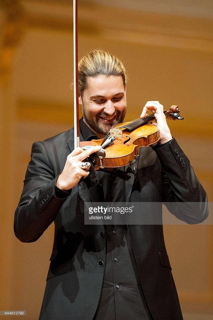 David Garrett - der deutsche Violinist bei einem Konzert in der Hamburger Laeiszhalle, Musikhalle.