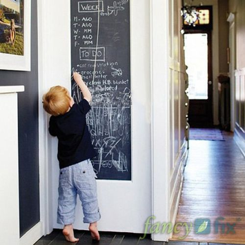 Vinyl Chalkboard Wall Stickers Removable Blackboard Decals Great Gift for Kids 45CMx200CM with 5 Free Chalks $7.95