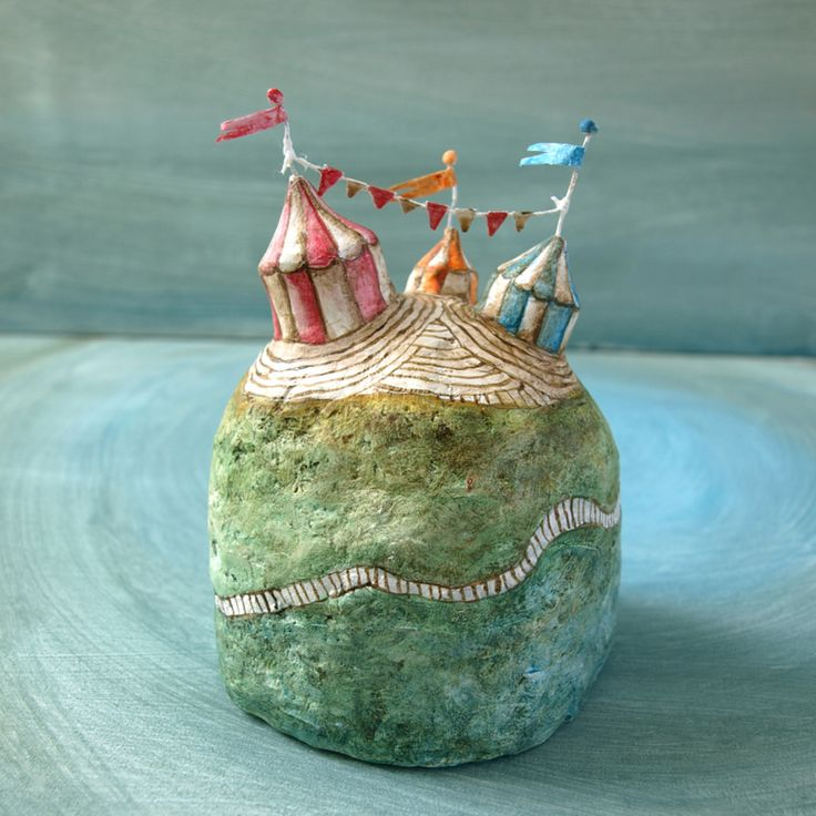 Festival Island | Handmade minature island | Scultpture | Mixed media