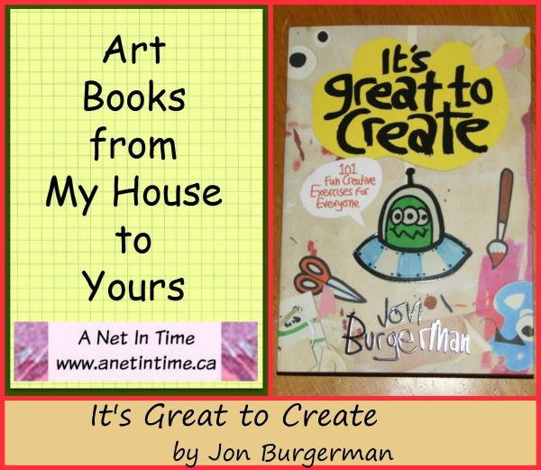 It's great to create.  101 ways to create, helping the budding artists be creative. @raincoastbooks http://www.anetintime.ca/2017/09/art-book-its-great-to-create.html