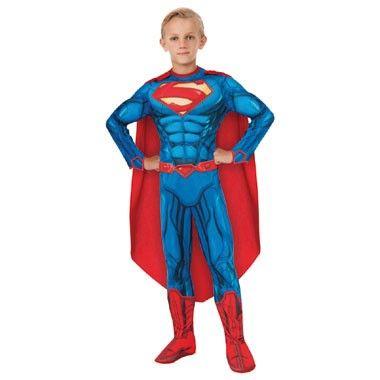 Superman Deluxe verkleedkostuum - maat 128/140  Jij zult in het middelpunt van de belangstelling staan op elk verkleedfeestje met dit stoere Superman Deluxe verkleedkostuum in maat 128/140.  EUR 34.99  Meer informatie