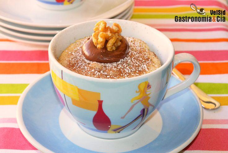 Mug Cake de plátano y nueces