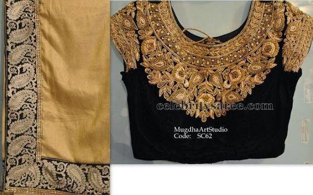 Velvet Blouse by Mugdha | Saree Blouse Patterns