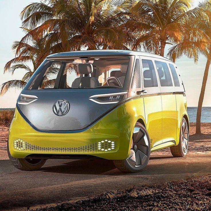 Volkswagen ID Buzz Concept 2017: a Kombi do Futuro! Uma nova era dá mobilidade elétrica começou com esse conceito diz a Volks. Revelada no Salão de Detroit a I.D. Buzz é a Kombi do futuro elétrica e com sistemas de direção autônoma.  Baseada na plataforma Modular Electric Drive Kit (MEB) tem tração integral e um output de 269 cavalos e autonomia de 600 km graças a bateria de 111 kWh que fica no assoalho. São dois motores elétricos um em cada eixo. O nome I.D. Buzz vem da seguinte composição…