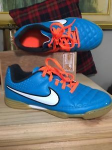 c171c0e4b6e Nike Jr Tiempo Genio Leather IC Indoor Court Soccer Shoes Sz 1- 1.5  631526-418