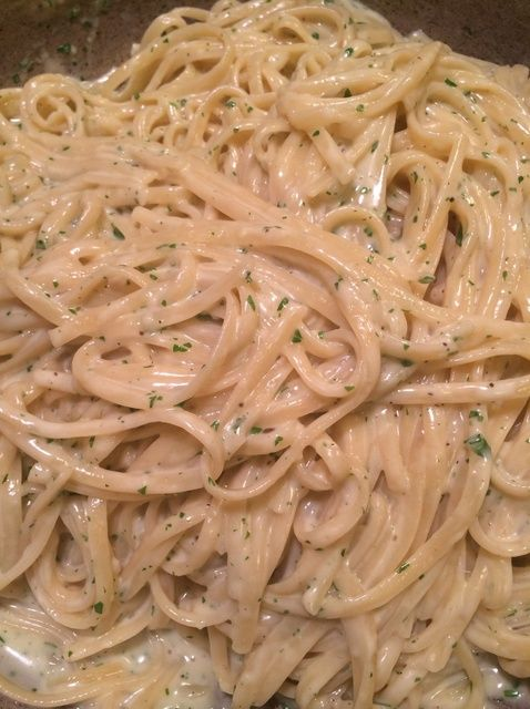 How to Make  One Pot Creamy Garlicky Linguine Recipe - Snapguide