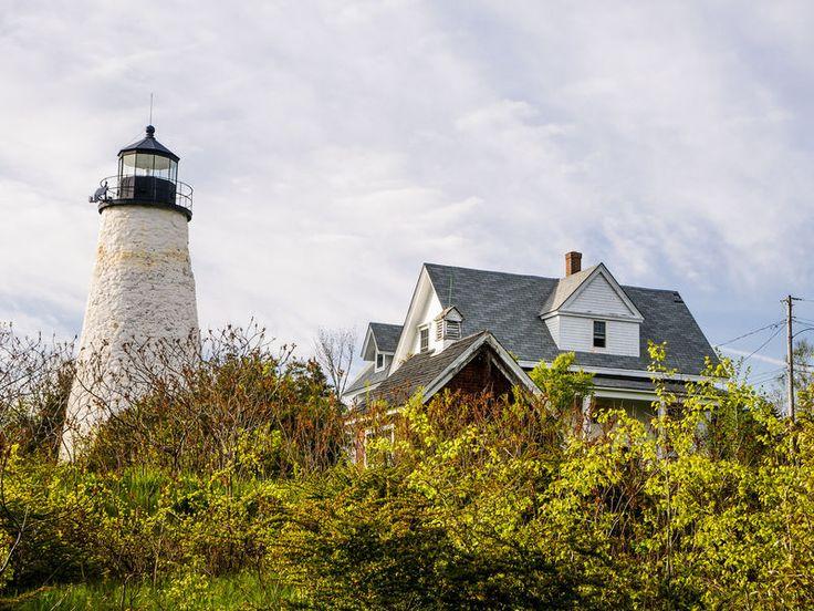 Dyce Head Foot Path Castine, Maine outdoor tree sky grass building tower château season rural area castle flower
