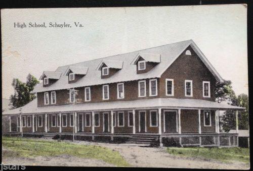 Details about c 1907 schuyler va schuyler high school for Burgess builders