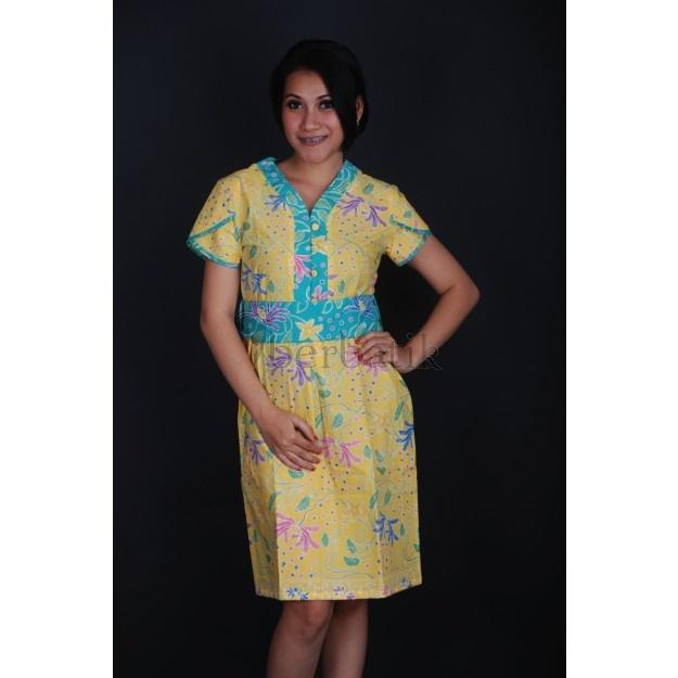 Yellow dress Batik Cap Pekalongan - Everlasting