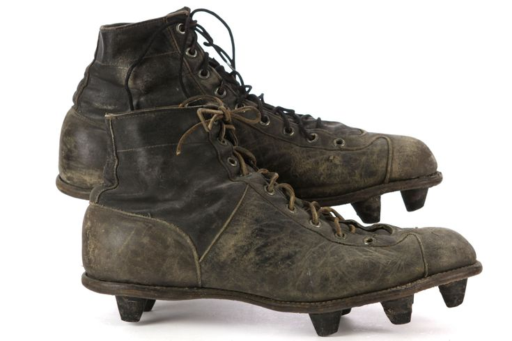 Curly Lambeau's old cleats are on the auction block.  Packers fans, what are we bid?  http://www.sportscollectorsdaily.com/early-curly-lambeaus-cleats-hit-auction-block/#