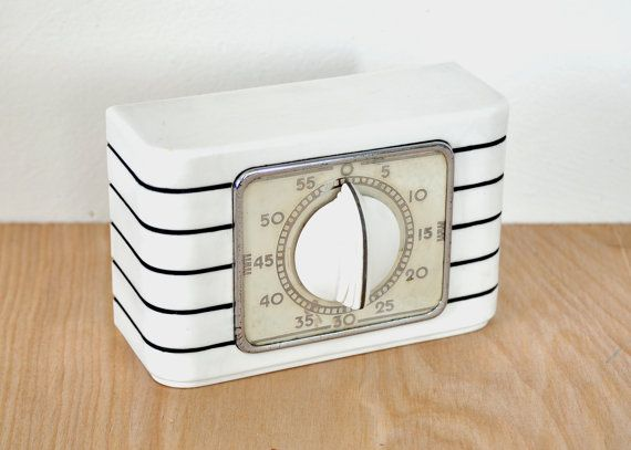 Vintage Lux Kitchen Timer  Stove Top or Counter by HedgehogAndOwl