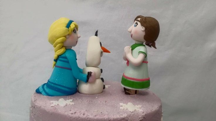 Elsa, Anna & Olaf Frozen Themed Cake Toppers modelled by Coast Cakes Ltd