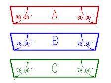 3v strut angles