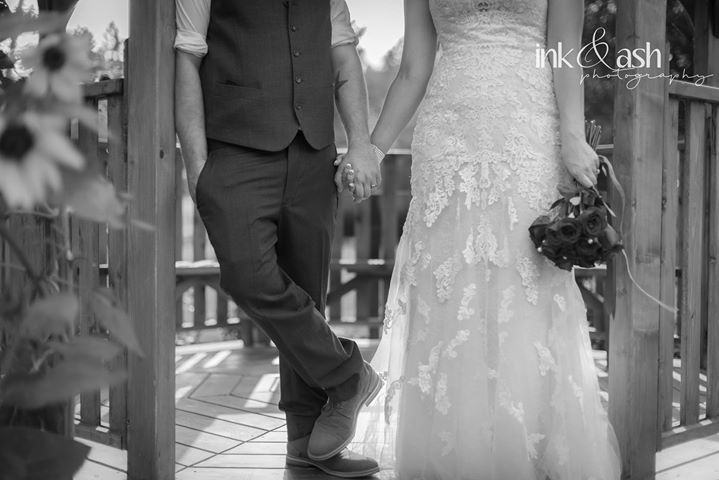 Holding hands in the gazebo at the Penticton Rose Garden. Photo by Ink and Ash Photography