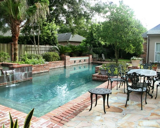 New Orleans Courtyard Pool Design Pictures Remodel Decor And