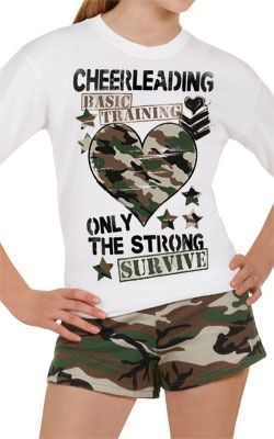 Cheerleading Basic Taining - Only The Strong Survive T-Shirt