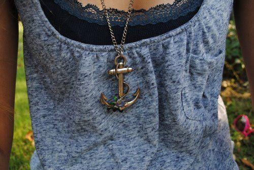 Anchor anchor anchor: Anchors, Fashion, Style, Dream Closet, Anchornecklace, Necklaces, Anchor Necklace, Shirt